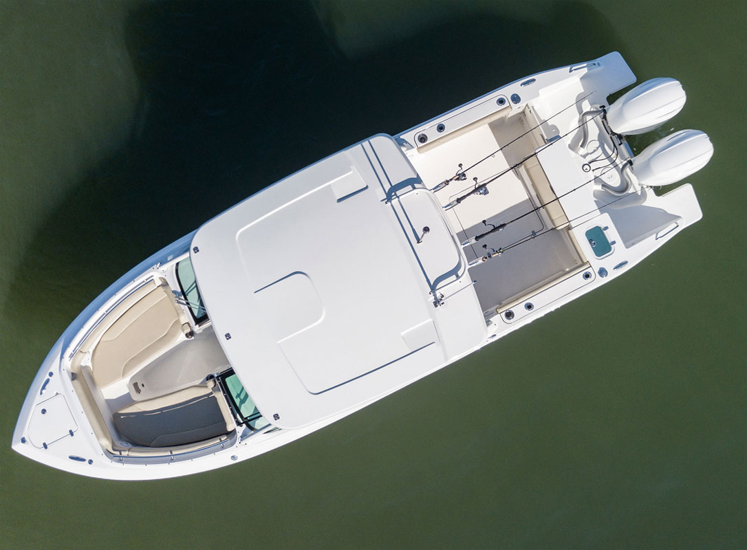 The Pursuit DC266 dual console is both a bowrider and a fishing boat.